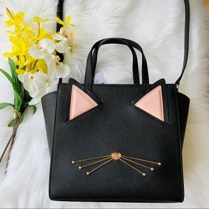 KATE SMALL SMALL CAT JAZZ THINGS UP BLACK LEATHER
